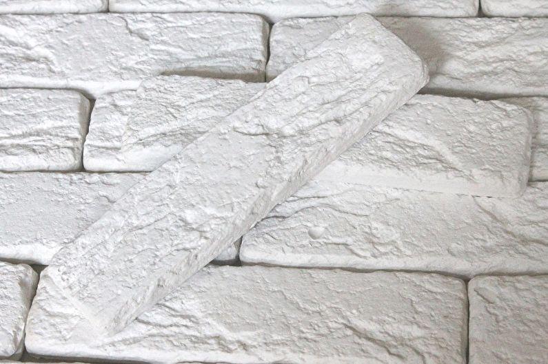 Виды декоративного кирпича для внутренней отделки - Гипсовый кирпич