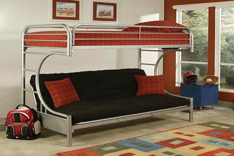Двухъярусная кровать с диваном - Конструкция