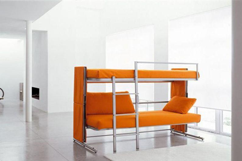 Двухъярусная кровать с диваном - Лестница