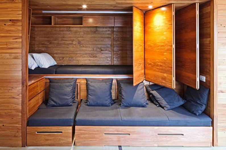 Двухъярусная кровать с диваном для детей и взрослых