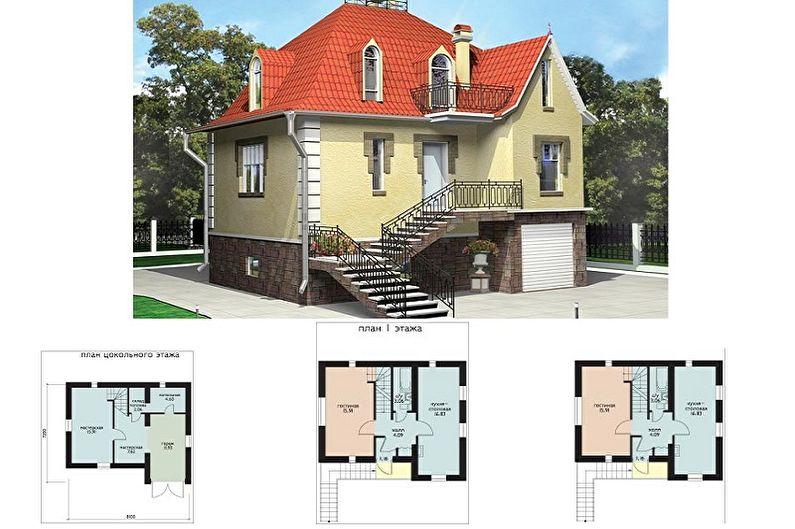Идеи планировки каркасных домов - Строим не вверх, а вниз