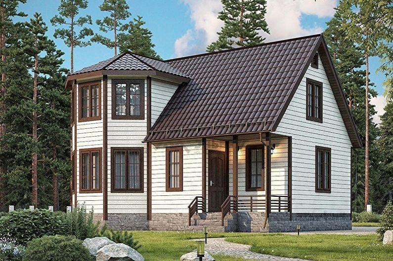 Идеи планировки каркасных домов - Дополнительные элементы архитектуры