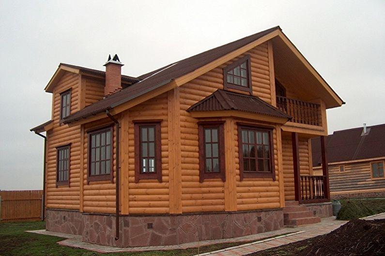 Каркасные дома - Отделка фасада