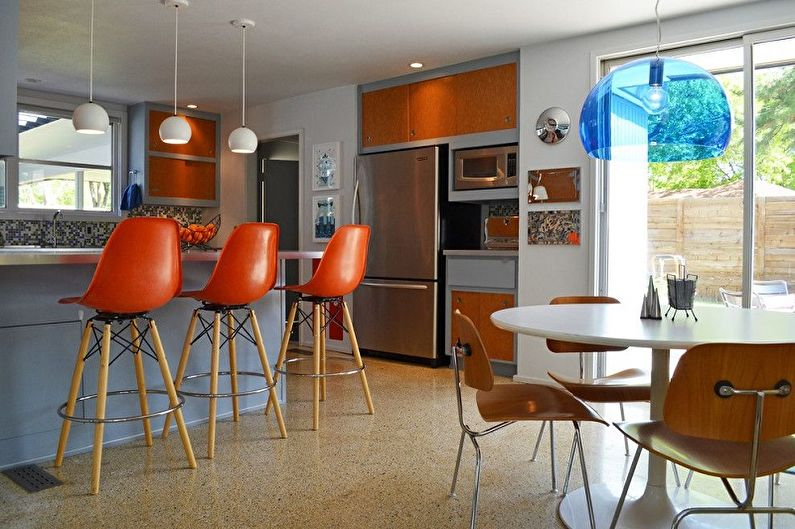 Барные стулья для кухни - Материалы