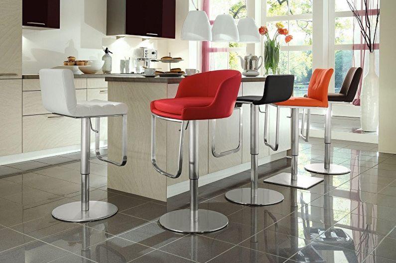 Виды барных стульев для кухни - По типам конструкции