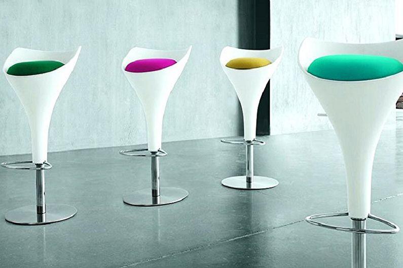 Виды барных стульев для кухни - По форме