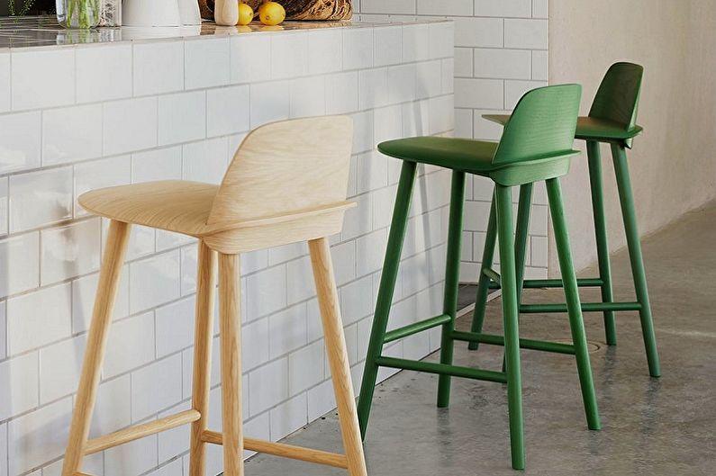Виды барных стульев для кухни - По высоте