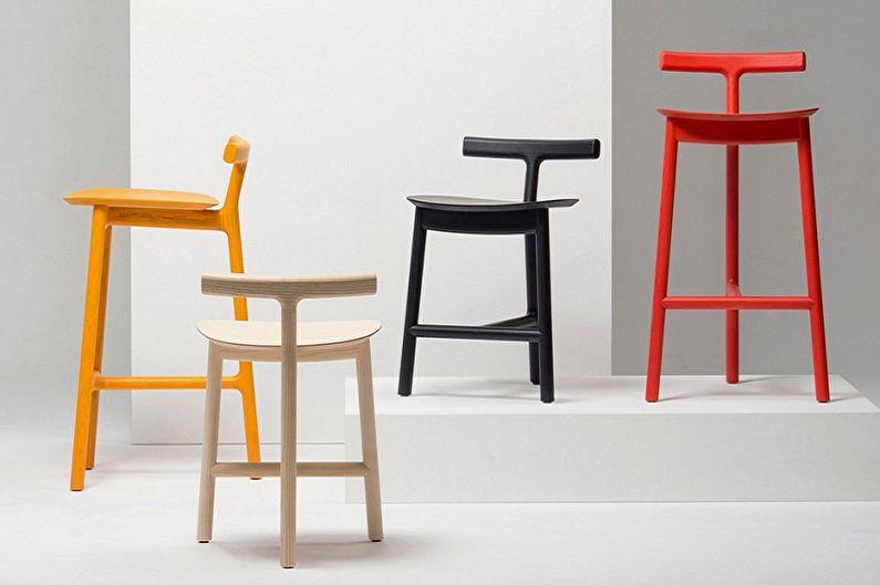 Виды барных стульев для кухни - По разновидности ножек
