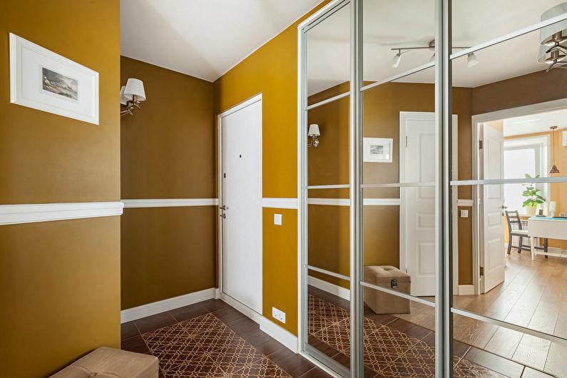 Дизайн прихожей в современном стиле - Отделка стен