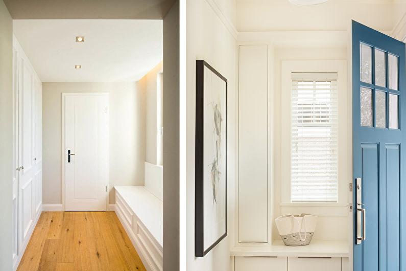Дизайн прихожей в современном стиле - Отделка потолка