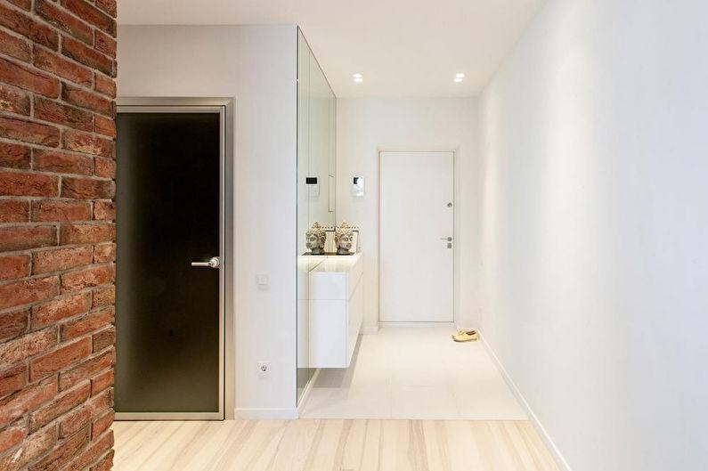 Дизайн интерьера маленькой прихожей в современном стиле