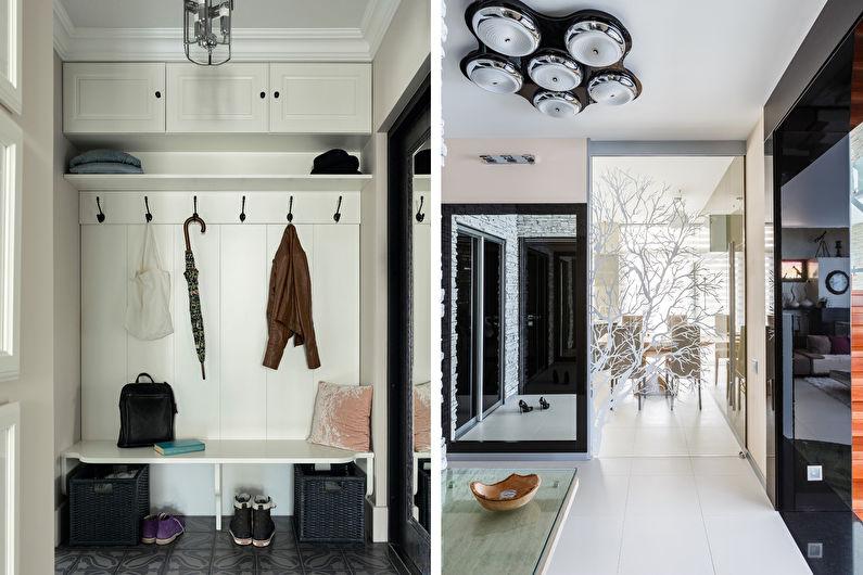 Дизайн интерьера прихожей в современном стиле - фото