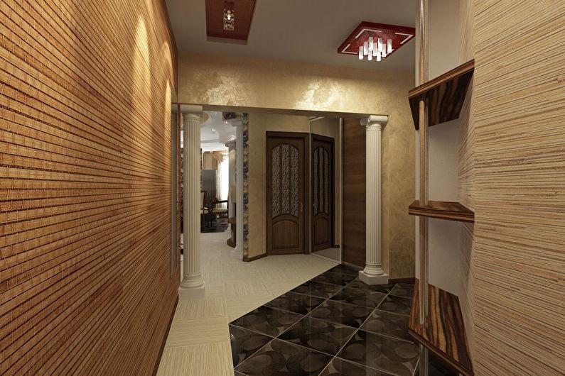бамбуковые обои в коридоре фото