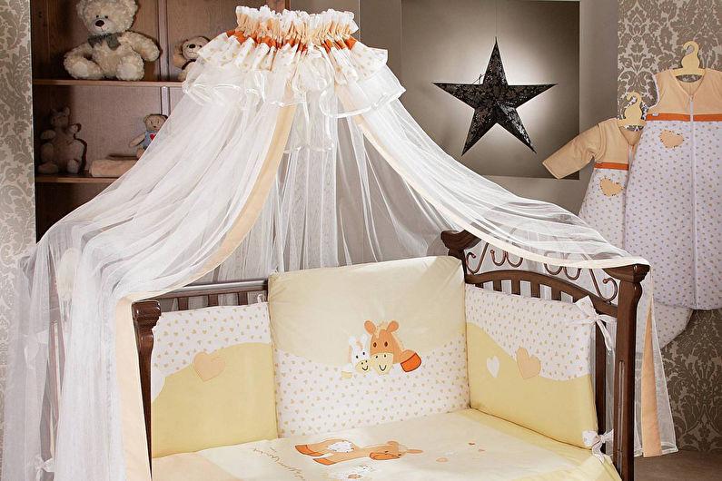 Балдахин на детскую кроватку - Варианты крепления