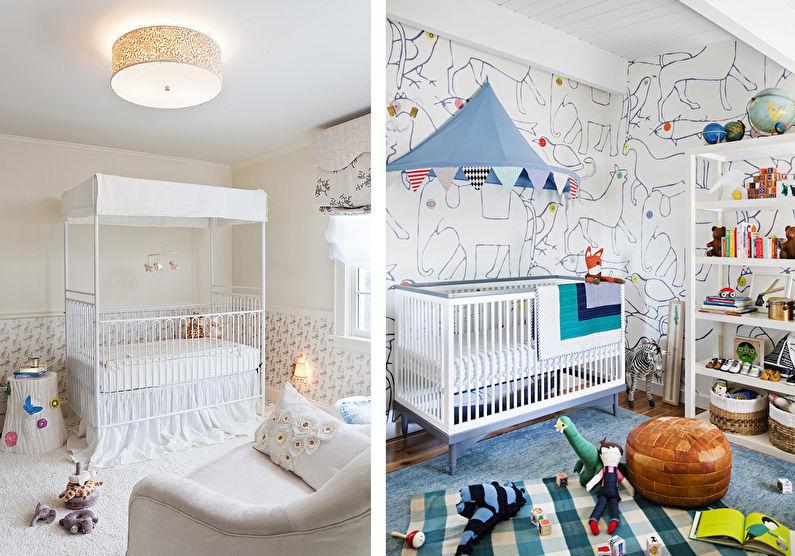 Балдахин на детскую кроватку - Цвета и декор