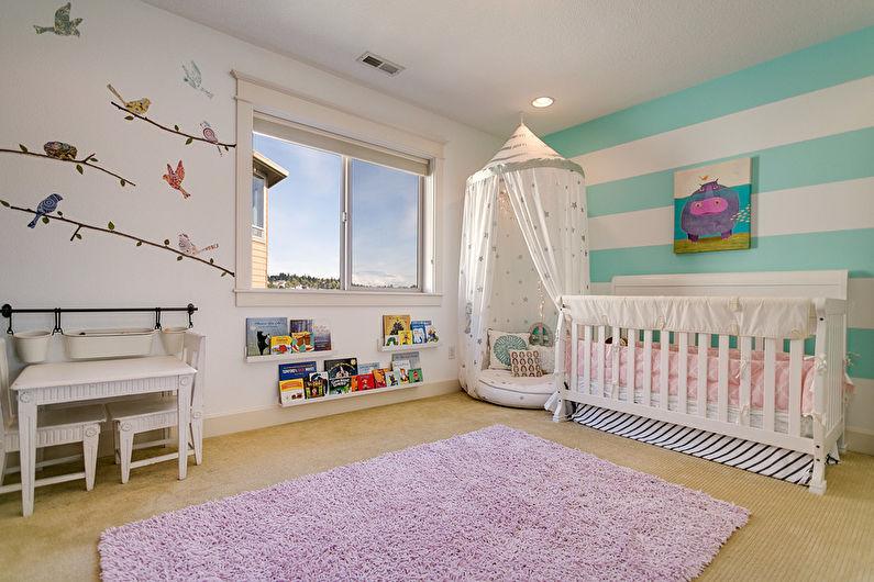 Балдахин для детской кроватки - фото