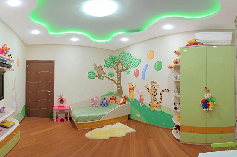 Натяжной потолок в детской - Особенности