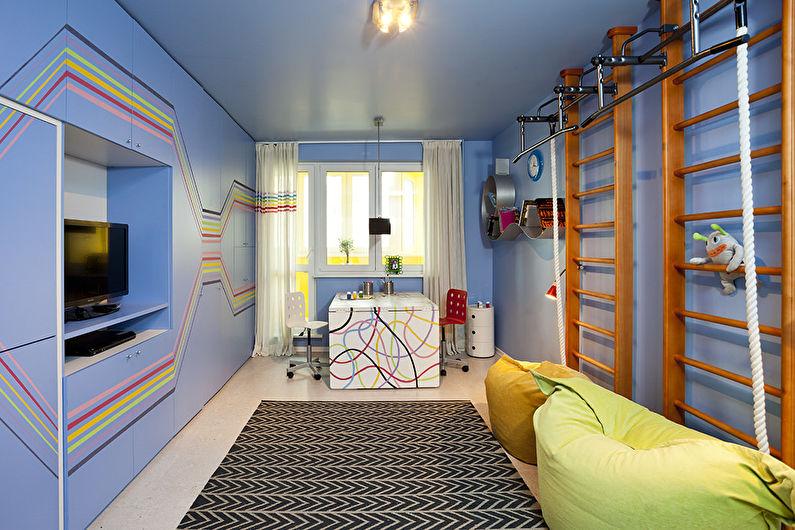 Натяжной потолок в детской - Виды