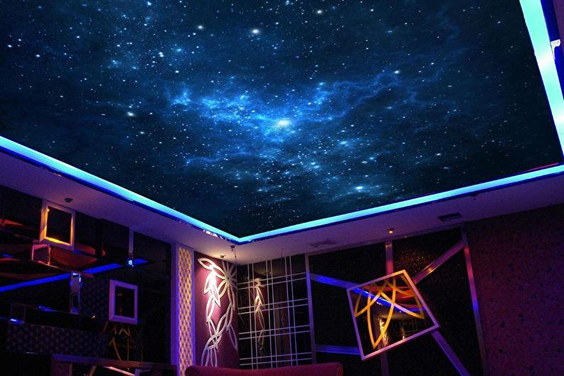 Натяжной потолок в детской - Звездное небо