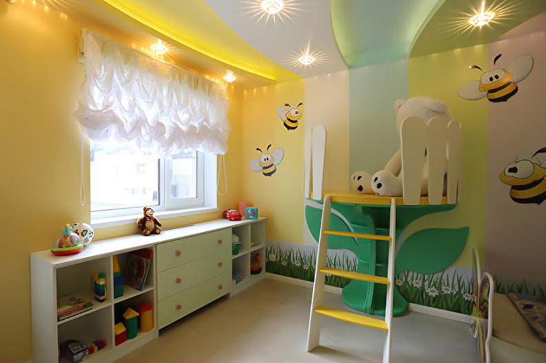 Натяжной потолок в детской - Рельефный потолок