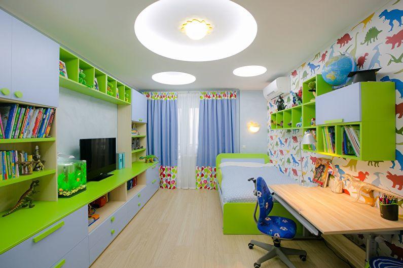 Подсветка натяжного потолка в детской