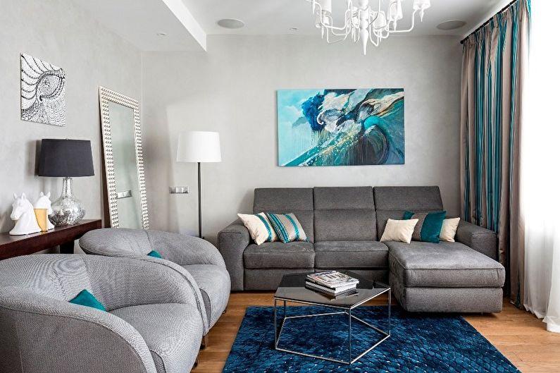 Бирюзовый и синий - Сочетание цветов в интерьере
