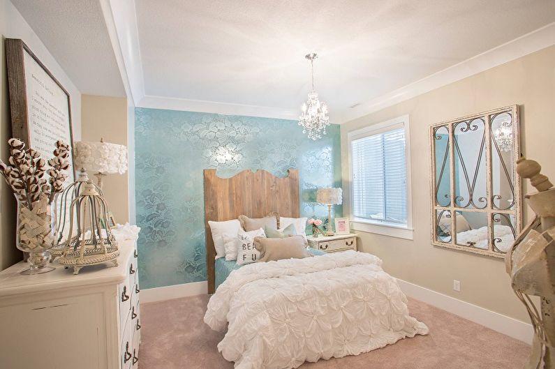 Бирюзовая спальня фото - Дизайн интерьера