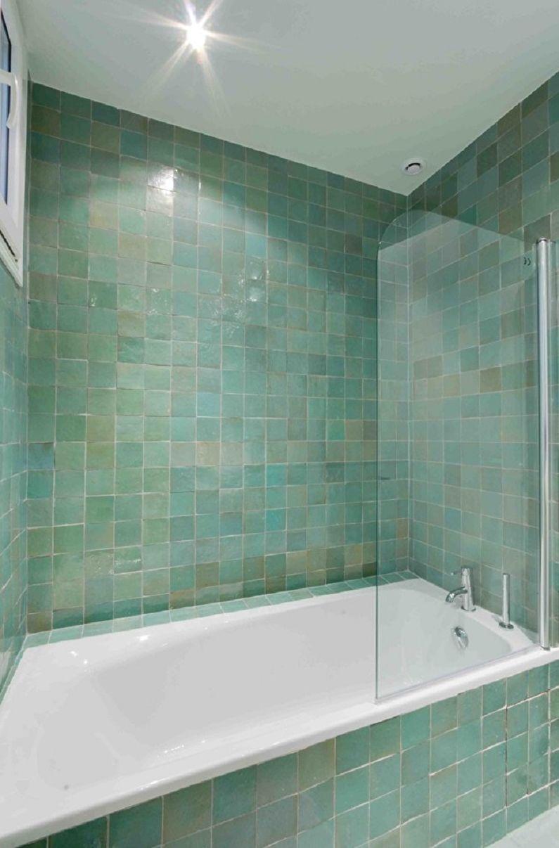 Бирюзовая ванная комната фото - Дизайн интерьера