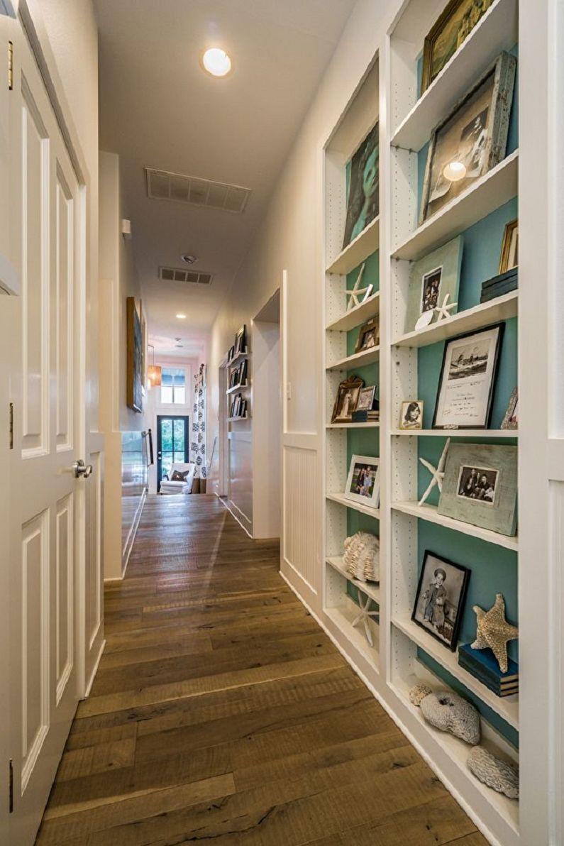 Бирюзовая прихожая и коридор фото - Дизайн интерьера