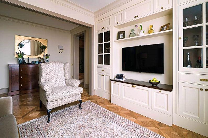 Дизайн гостиной в классическом стиле - Отделка пола