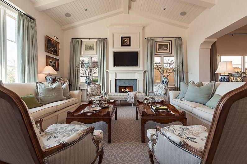 Дизайн гостиной в классическом стиле - Мебель