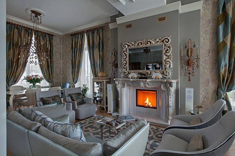 Дизайн гостиной в классическом стиле - Декор и текстиль