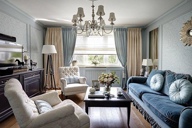 Маленькая гостиная в классическом стиле - Дизайн интерьера