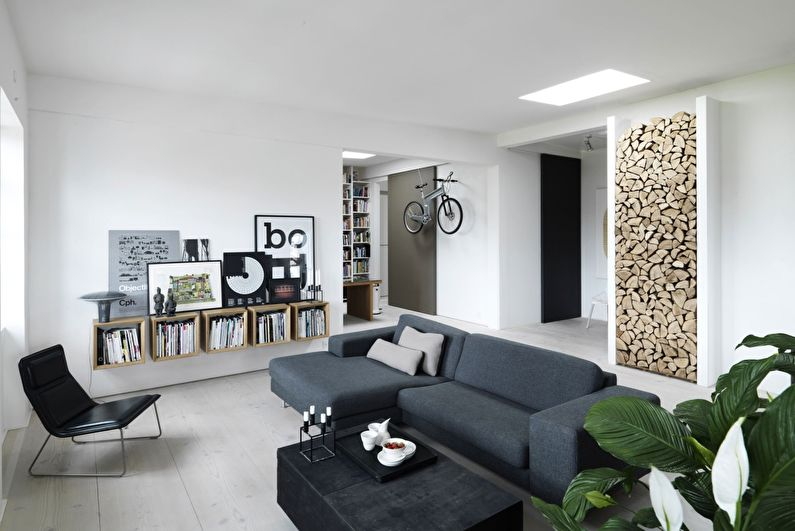 Скандинавский стиль в интерьере - Отделка стен