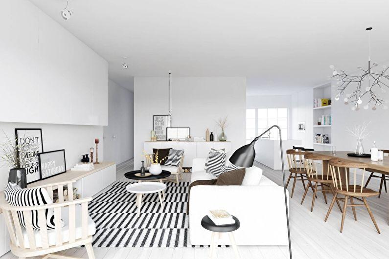 Скандинавский стиль в интерьере - Отделка потолка