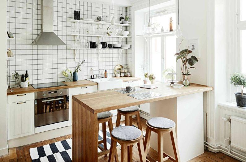 Кухня в скандинавском стиле фото - Дизайн интерьера