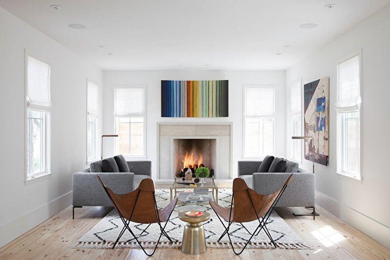 Гостиная в скандинавском стиле фото - Дизайн интерьера
