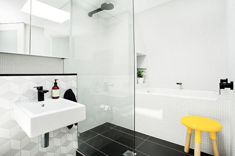 Ванная комната в скандинавском стиле фото - Дизайн интерьера