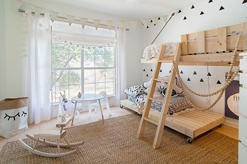 Детская комната в скандинавском стиле фото - Дизайн интерьера