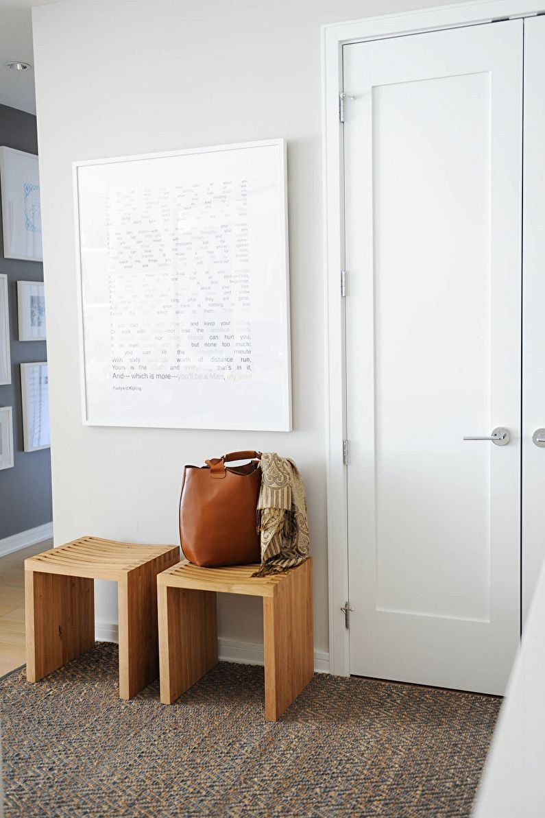 Прихожая и коридор в скандинавском стиле фото - Дизайн интерьера