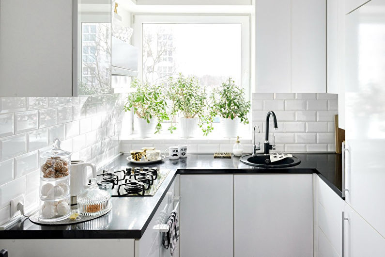 Кухня 7 кв.м. в скандинавском стиле - Дизайн интерьера