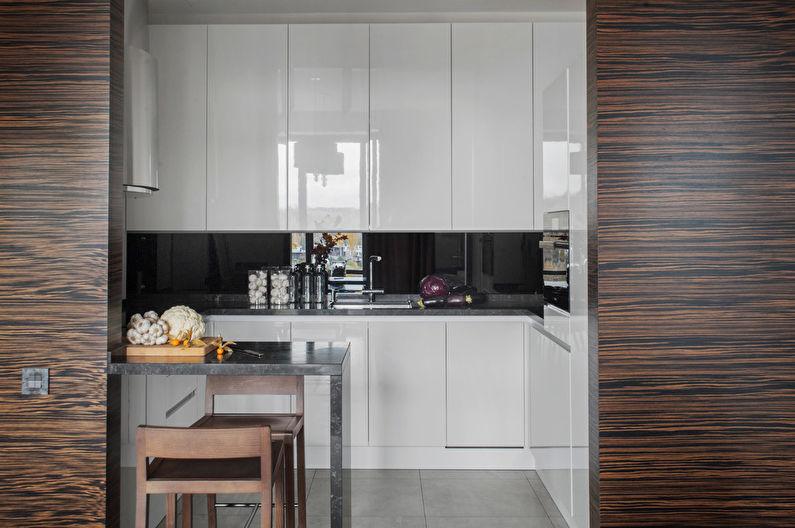 Кухня 7 кв.м. в стиле хай-тек - Дизайн интерьера