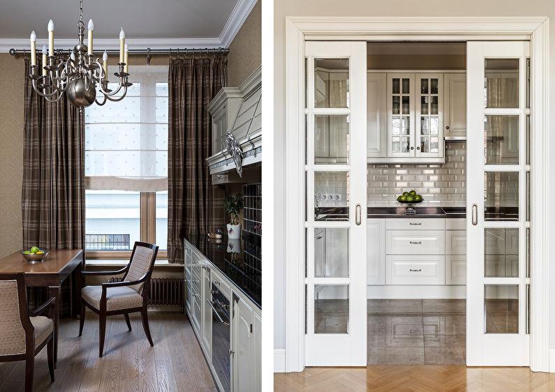 Кухня 7 кв.м. в стиле современная классика - Дизайн интерьера