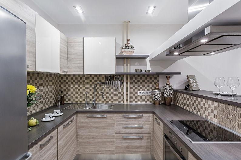 Дизайн кухни 7 кв.м. - Светлая палитра