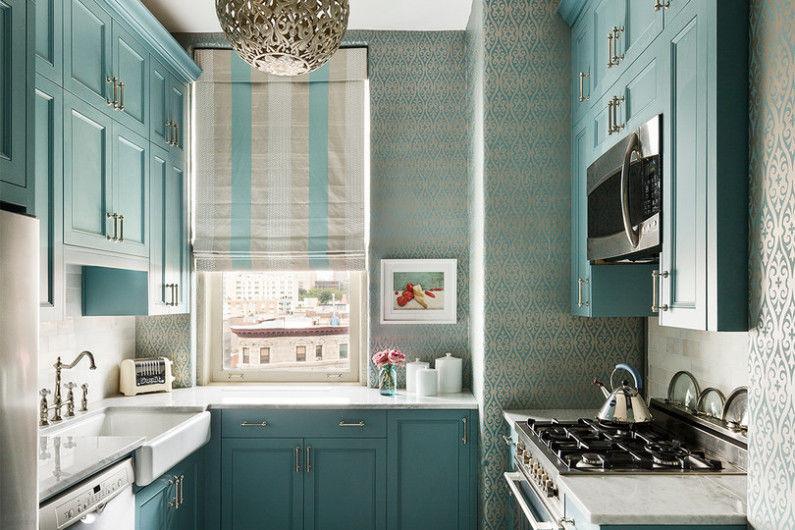 Дизайн кухни 7 кв.м. - Пастельные оттенки