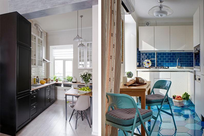 Дизайн кухни 7 кв.м. - Отделка пола