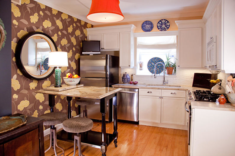 Дизайн кухни 7 кв.м. - Отделка стен