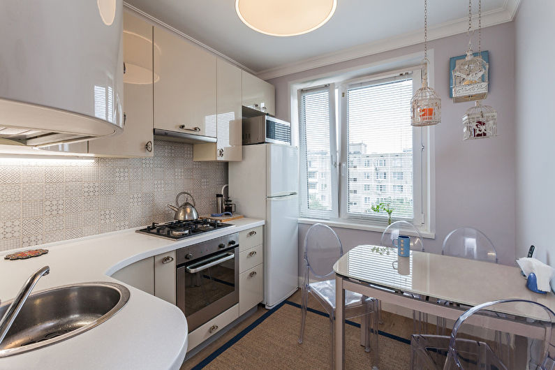 Дизайн кухни 7 кв.м. - Отделка потолка