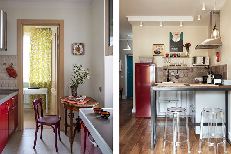Дизайн кухни 7 кв.м. - Декор и освещение