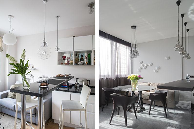 Диван на кухне в современном стиле
